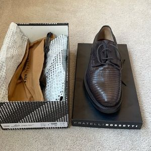 NWT Fratelli Rossetti Tejus Wax Cacao shoes size 8